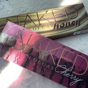 Urban Decay Honey and Cherry Palettes - Used